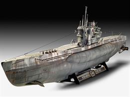 "Revell 05163 1/72nd German U Boat Submarine Platinum Edition Plastic Model kit of the most frequently built submarine class in history. Characteristic of the Type VII C/41 was the ""large winter garden"" with additional armament and the erectable snorkel mast."