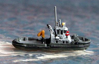 A 1/1250 scale model of a modern Netherlands navy tug of the Noordzee-class by Rhenania Rhe183. There are currently 3 ships in the class, A872, Waddenzee and A873 Oostzee being the others.