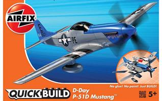Airfix Quickbuild D-Day Mustang Clip together Model J6046