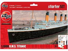 Airfix A55314 RMS Titanic Small Scale Starter SetNumber of Parts 74   Length 275mm    Width 29mm