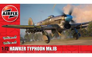 Airfix A02041A 1/72nd Hawker Typhoon Mk.1B World War 2 Fighter Aircraft KitNumber of Parts 74   Length 134mm   Wingspan 174mm
