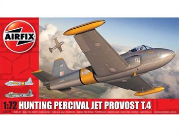 Airfix A02104 1/72nd Hunting Percival  Jet Provost T4 Trainer KitNumber of Parts 45   Length 137mm    Wingspan 156mm