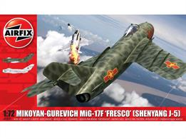 Mikoyan-Gurevich MiG-17F 'Fresco Kit A03091Number of Parts 87    Length 156mm     Width 134mm