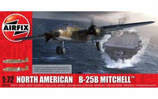Airfix 1/72 North American B-25B Mitchell Doolittle Raid Bomber Aircraft Kit A06020Number of Parts 166  Length 233mm Wingspan 286mm