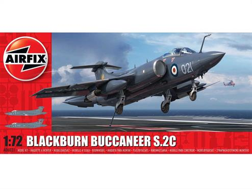 Airfix 1/72  Blackburn Buccaneer S Mk.2 RN Bomber Aircraft Kit A06021Number of Parts 141   Length 268mm Wingspan 186mm