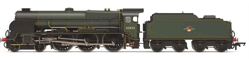 Detailed model of the powerful Lord Nelson class 4-6-0 express passenger locomotives built for the Southern Railway. Model finished as British Railways 30852 Sir Walter Raleigh in lined green livery with early lion over wheel emblem.Era 5 1957-1968