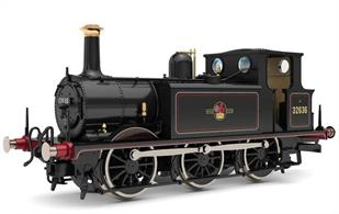 Model of the former LB&SCR A1X class 'Terrier' 0-6-0 tank engines, a design which had a long service life on minor branch lines across Southern England.Model finished as British Railways 32636 with later lion holding wheel crest.Era 5, 1957-1968
