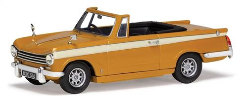 Corgi Vanguard VA07406 is a 1/43rd scale diecast car model of a Triumph Herald 13/60 Convertible with a Removable Roof