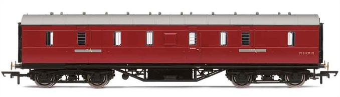 BR ex-LMS gangwayed full brake passenger luggage van