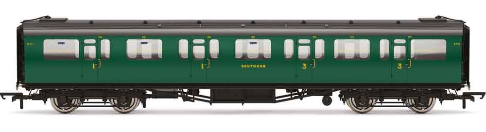 5711 Era 3 HORNBY Coach R4882 SR Bulleid 59/' Corridor Composite