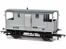 New model of the London & South Western Railway 'New Van' goods train brake van design introduced circa 1915.Model finished in British Railways goods grey livery.Era 4 1948-1956