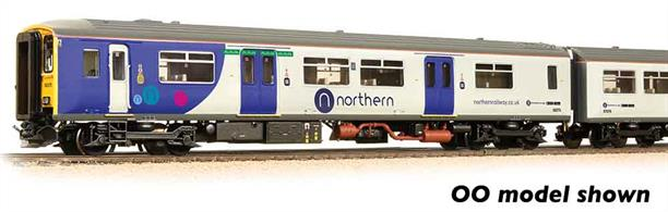 A model of the first of the second generation diesel unit trains. Intended for suburban duties, the class 150 was fitted with sliding double doors, allowing rapid movement of passengers.This model is painted in Northern Rail livery.Era 8 1982-1994. DCC Ready 6-pin decoder required for DCC operation. Chassis incorporates speaker housing.