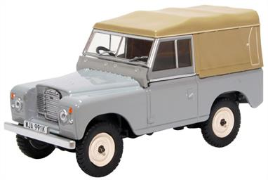 Oxford Diecast 43LR3S003 1/43rd Land Rover Series III SWB Canvas Mid Grey