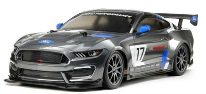 This 58664 Tamiya Ford Mustang GT4 RC Car faithfully captures this sleek racing car as a 1/10 scale radio control replica kit. The highly-detailed polycarbonate body sits atop the easy-to-build Tamiya TT-02 chassis that you can customize for added performance!