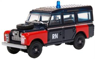 Oxford Diecast 76LAN2021 1/76th Land Rover Series II LWB Station Wagon Royal Navy Bomb Disposal