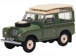 Oxford Diecast 76LR2AS003 1/76th Land Rover Series IIA Station Wagon Pastel Green