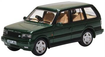 Oxford Diecast 76P38003 1/76th Range Rover P38 Epsom Green