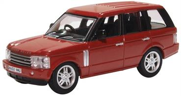 Oxford Diecast 76RR3002 1/76th Range Rover 3rd Generation Alveston Red