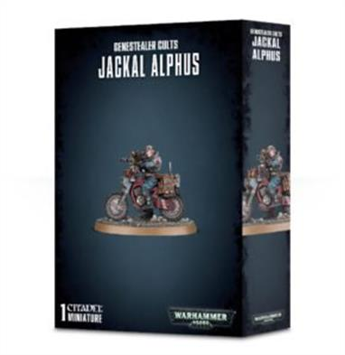 This kit lets you build one Jackal Alphus – a fantastic model that'll be a rewarding one-off to paint or the perfect accompaniment to the rest of your Genestealer Cults army. This kit is supplied in 13 components and contains 1x 60mm oval base.