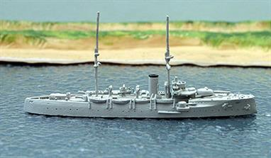 A 1/1250 scale second-hand model of Netherlands coast defence ship Hertog Hendrik by Argonaut A604. The model is in excellent original condition, see photograph.
