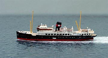 A 1/1250 scale model of the Danish Bornholm freight ferry Frem in 1939 by Albatros SM AL283.
