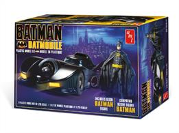 AMT/ERTL 1/25 Batman 1989 Batmobile Kit with Resin Figure AMT1107Glue and paints are required to assemble and complete the model (not included)