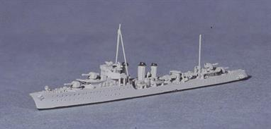 A 1/1250 scale model of Simoun a French destroyer by Navis Neptun 1436A.