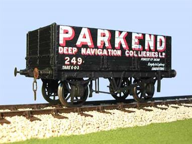 A detailed model kit of a 6 plank open mineral wagon with side and end doors built by the Gloucester Railway Carriage and Wagon Company wagon to the RCH 1887 design with pre-printed sides lettered for the Parkend Deep Navigation Collieries in the Forest of Dean.Supplied with metal wheels, 3 link couplings and sprung buffers