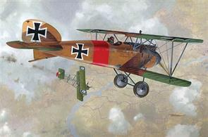 Lovely kit in a popular scale of this very important WW1 fighter.Glue and paints are required