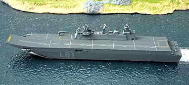 A 1/1250 scale model of the versatile Spanish flagship