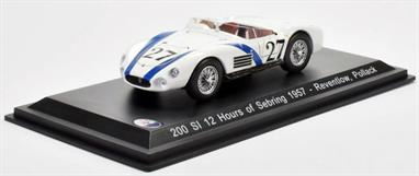 MAG HD42 1/43rd Maserati 200 SI 12 Hours of Sebring 1957 144 Reventlow, Pollack