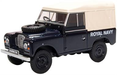 Oxford Diecast 43LR3S004 1/43rd Land Rover Series III SWB Canvas Royal Navy