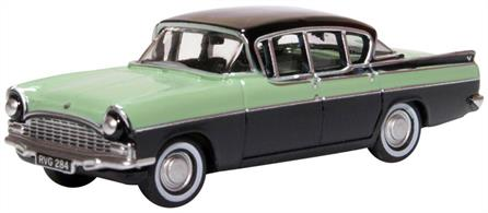 Oxford Diecast 76CRE011 1/76th Vauxhall Cresta Versailles Green & Black