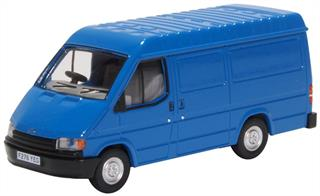 Oxford Diecast 76FT3009 1/76th Ford Transit Mk3 Gentian Blue