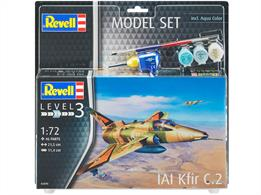 Revell 03890 1/72 Kfir C-2 Jet Fighter Starter set
