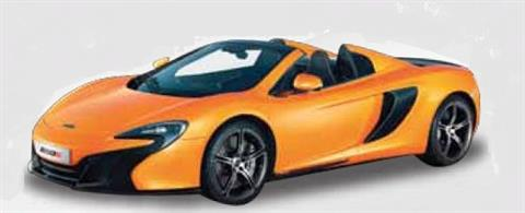 79326O McLaren 650S Sipder Tarroco Orange Diecast Car Model
