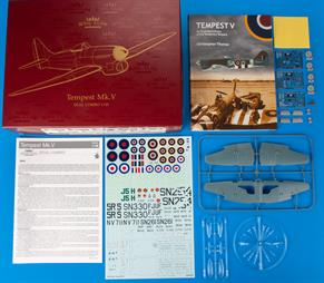 Royal Class edition kit of British WWII fighter aircraft Tempest Mk.V in 1/48 scale