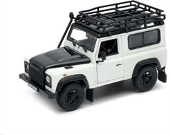 Land Rover Defender White with Roof Rack and Snorkel