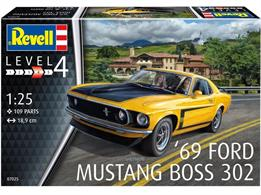 Revell 07025 1/24 1969 Boss 302 MustangNumber of Parts 109  Length 189mm Width 71mm Height 52mm