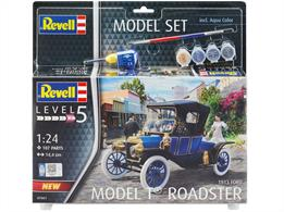 Revell 67661 1/24th Ford Model T Roadster 1913 Car Kit Model Set