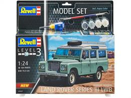 Revell 67047 Land Rover Serties III 4x4 Off-Road Vehicle Kit Model SetNumber of Parts 184 Length 194mm Width 86mm Height 98mm