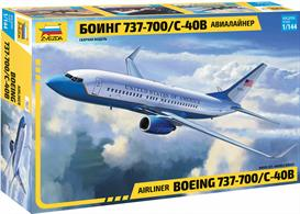Zvezda 7027 1/144th Boeing 737-700 Airliner Aircraft KitNumber of Parts 109   Length 233mm
