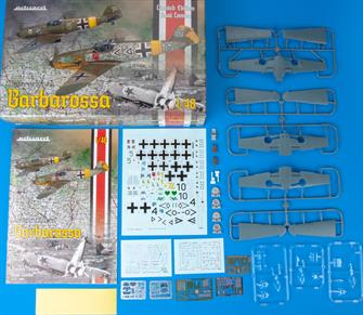 This is a pack of two Messerschmitt bf109 plastic kit in a limited edition box from operation barbarossa