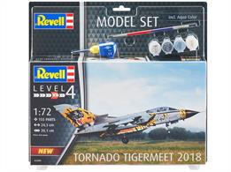 Revell 03880 1/72nd 2018 Tornado ECR Tigermeet Model set including glue and paints