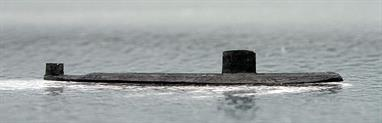 A 1/1250 scale resin model of a Swiftsure class nuclear attack submarine by Coastlines Models CL-SS20