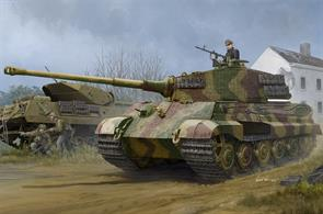 Hobbyboss 84531  Pz.Kpfw.VI Sd.Kfz.182 Tiger II (Henschel 1944 Production) w/ Zimmerit Length: 289.9mm   Width: 107.3mm