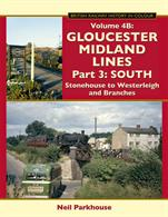 Volume 4 of the Gloucestershire Railways series by Neil Parkhouse has been split into two parts.This volume picks up the Midland Bristol & Gloucester 'Charfield route' at Stonehouse and follows the line to Westerleigh, including the branches to Dursley, Sharpness and Thornbury. 275x215mm. Printed on gloss art paper, casebound with printed board covers.