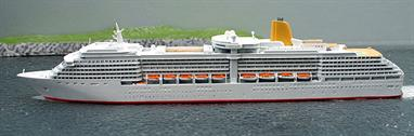 A 1/1250 scale model of P&O cruise ship Arcadia in 2005 by CM Miniaturen CM-KR 325.