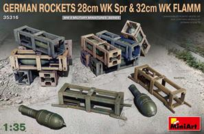 UNASSEMBLED PLASTIC MODEL KIT BOX CONTAINS GERMAN ROCKET GRENADES WITH WOODEN CRATES AND DECALS