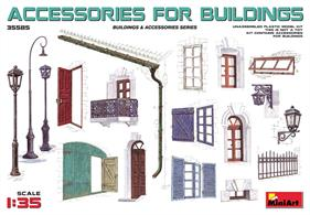This kit contains unassembled and unpainted house accessories.